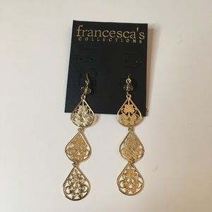 Francesca's collection 3 tier earrings